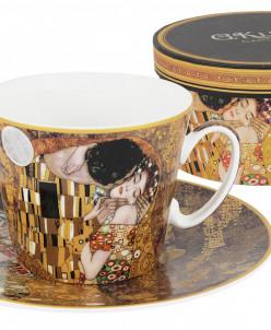 Чашка с блюдцем Поцелуй (Г.Климт)