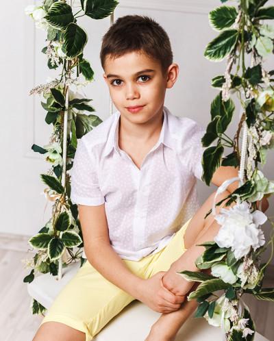 "Рубашка для мальчика ""Аквамарин"""