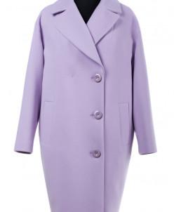 01-6672 Пальто женское демисезонное Кашемир Сирень