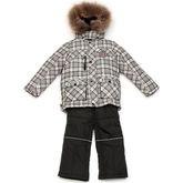 Комплект для мальчика с пуховой подстежкой Kiko (серый), 1-8
