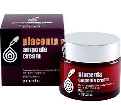 ХИТ!!! Крем для лица с фитоплацентой [ZENZIA] Placenta Ampou