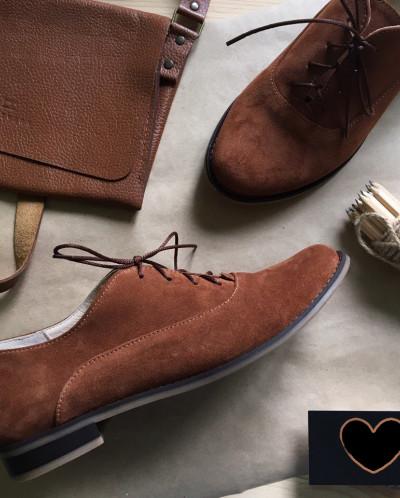 Замшевые стильные туфли.