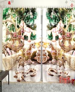 Фотошторы Новогодняя коллекция 106 Габардин