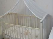 Кроватка Гандылян слоновая кость матрас постельное