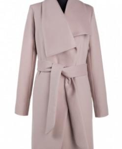 01-5783 Пальто женское демисезонное (пояс) Кашемир Какао