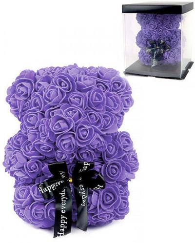 Мишка из роз в подарочной коробке