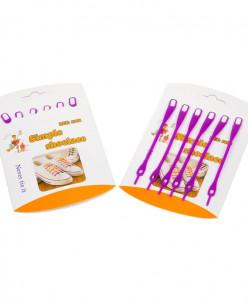 Шнурки силиконовые фиолетовые (упаковка 6 шт.) арт s007