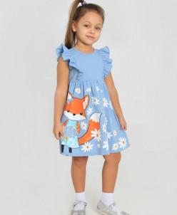 Платье детское Полевые цветы (кулирка)