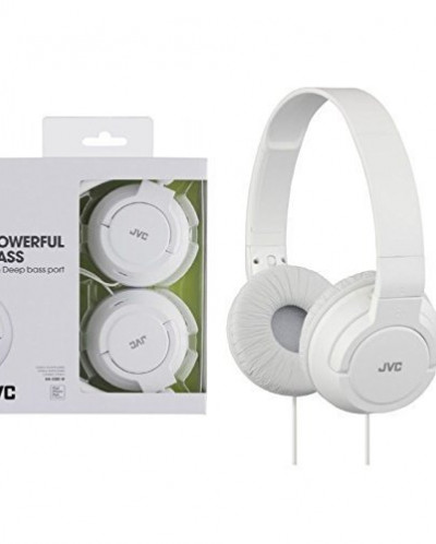 JVC HAS180W The Amazing On-Ear Headphones, White