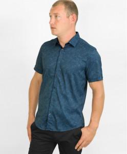 Рубашка Amato стильная молодежная синяя модель
