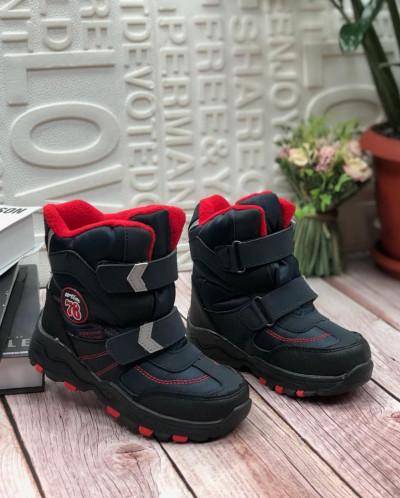 Детские ботинки 7024-3 темно-синие с красным