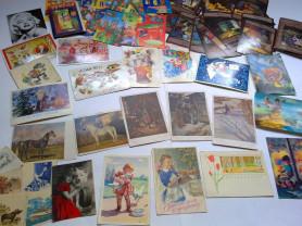 Старые старинные открытки с 1930г,стерео открытки