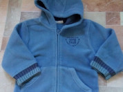 Курточка - кофточка флисовая с капюшоном р.86