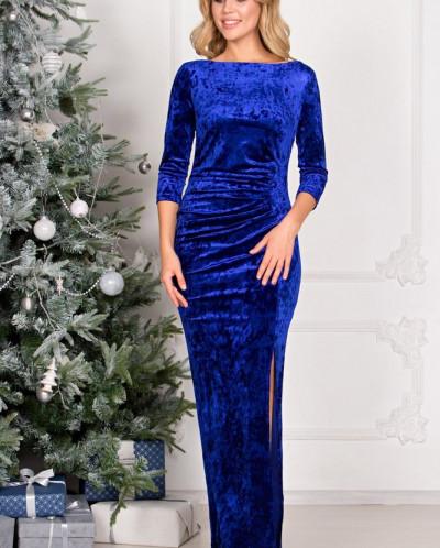 Платье Эшли из бархата П-184-1
