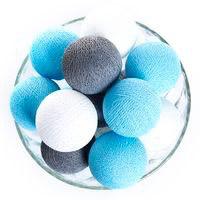 Хлопковая гирлянда, 20 шариков!