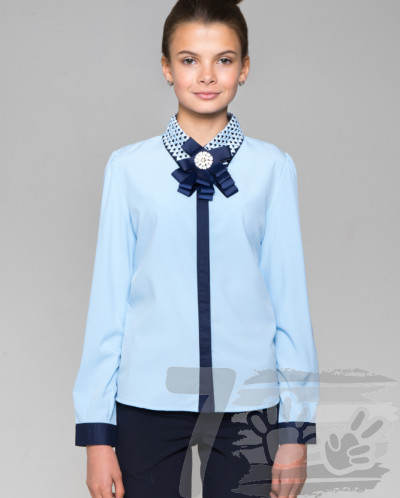 Блузка для девочки с длинным рукавом 022