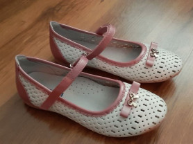 Белые / розовые туфли mursu с перфорацией