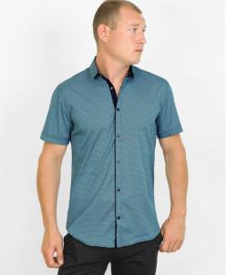 Стильная молодежная рубашка Black Stone голубого цвета