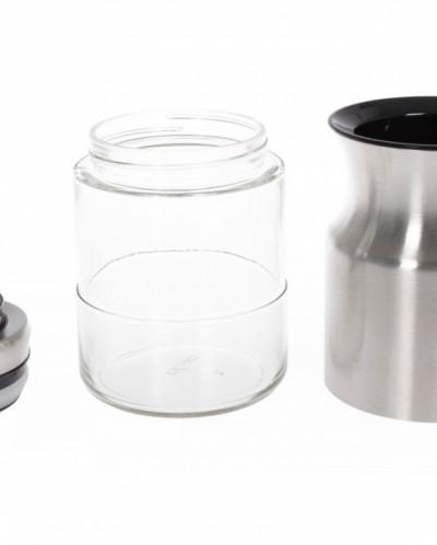 Набор банок для сыпучих продуктов TAC S, 3 шт, серебряный