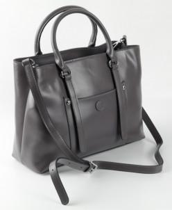 Женская кожаная сумка 88012 Серый