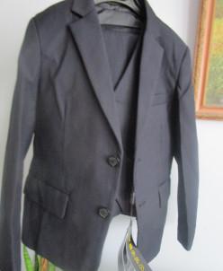 новый школьный костюм тройка темно-синий 128