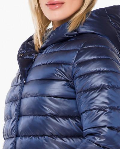 Женский стильный воздуховик сапфировый осенне-весенний модел