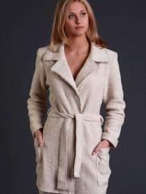 Жакет-пальто из льна