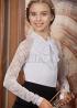 Трикотажная блузка С*нежанна белая