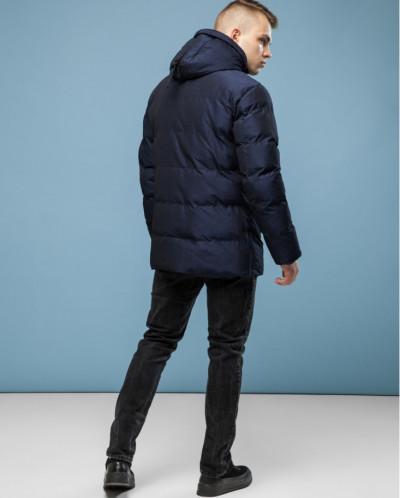 Дизайнерская куртка высокого качества темно-синяя модель6232