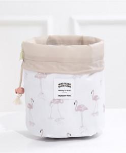 Дорожная косметичка Dresser Фламинго белый