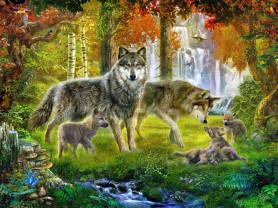 Картины по номерам GX 3897 Волчья поляна