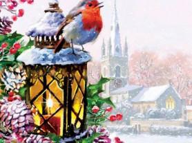 Картины по номерам GX 3462 Зимняя птичка