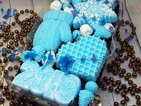 новогодний набор сувенирного мылка