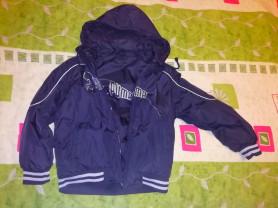 Куртка Пума одета один раз р.128/134 цвет черный с