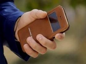 Сенсорный кожаный чехол для Айфон 7 - два в одном