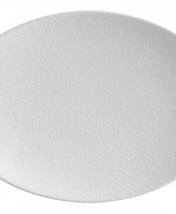 Тарелка овальная Икра (белая) без инд.упаковки. Maxwell & Wi