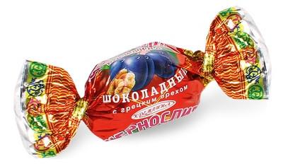 Чернослив КРЕМЛИНА шоколадный с грецким орехом  (Матрешка)