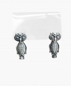 Серьги-пусеты из серебра Сова Юмила