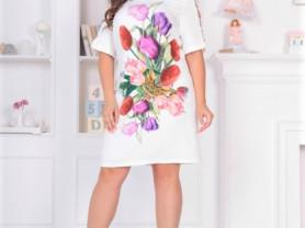 Женское платье Скарлет белое