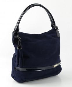 Женская кожаная сумка 10429 Нави