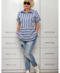Блуза коттон прошва Л464-1