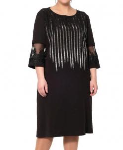 Нарядное черное платье 417651