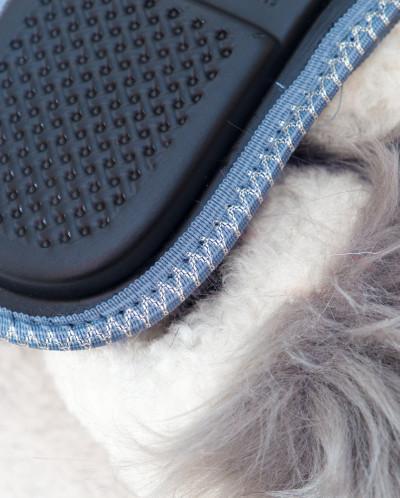 Тапочки женские Черный-Серый. 100% овчина
