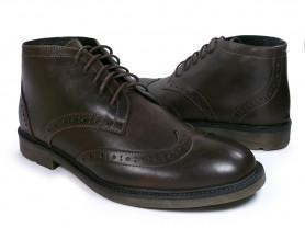 Мужские зимние ботинки на шнурках без молний