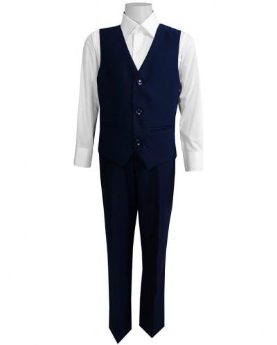 Школьный костюм-тройка UNIK KIDS т-синий (116-164)