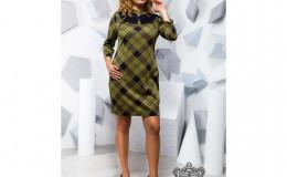 Короткое платье в клетку - 17209