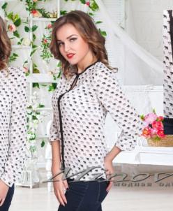 Артикул:Рубашка №197-белый+слоники