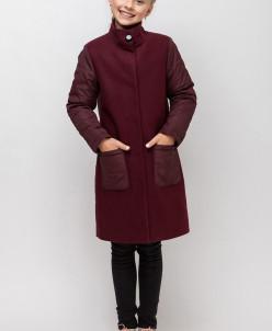 Оригинальное деми пальто для девочки