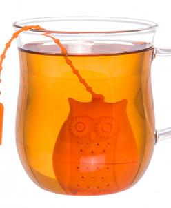 """Сито для заваривания чая 4*3,3*5 см """"Сова оранжевая"""""""