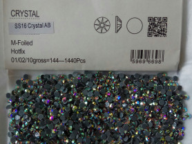 Имитация Сваровски ss16 crystalAB горячей фиксаци